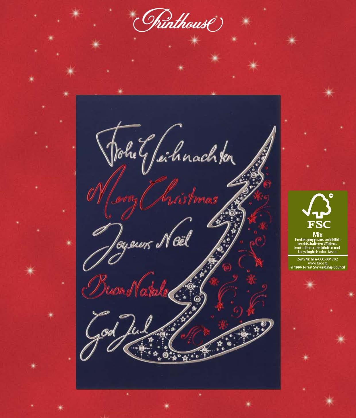 Printhouse Weihnachtskarten